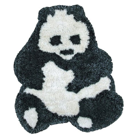 Rizzy Home Animal 'Bao Bao' Panda Bear Accent Rug (3' x 3'6) - 2' x 3'