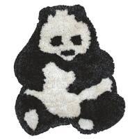 Rizzy Home Animal 'Bao Bao' Panda Bear Accent Rug  (3' x 3'6)