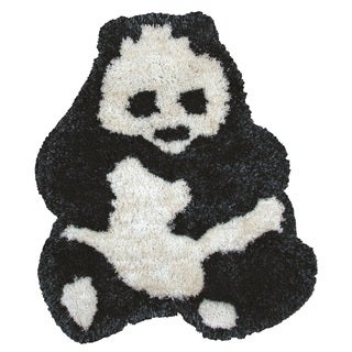 Rizzy Home Animal 'Bao Bao' Panda Bear Accent Rug (3' x 3'6)