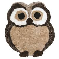 Rizzy Home Animal 'FlurryPuff' Owl Accent Rug (3' x 3'6) - 3' x 3'6