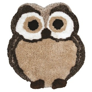 Rizzy Home Animal 'FlurryPuff' Owl Accent Rug (3' x 3'6)