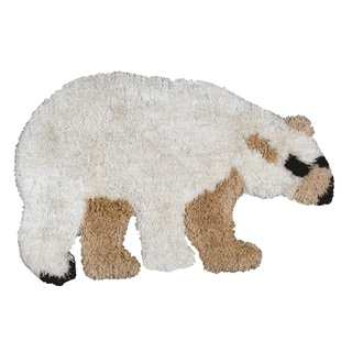Rizzy Home Animal 'Sami' Polar Bear Accent Rug (3'6 x 2')