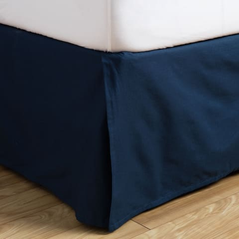 Andrew Charles All American Collection Navy Cotton Bed Skirt