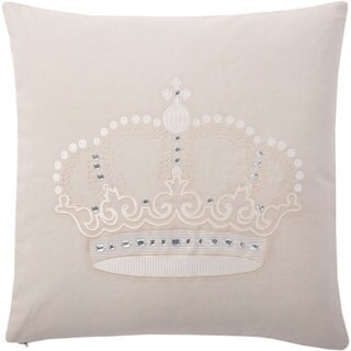 Andrew Charles Ogee Handbeaded Crown Print 20-inch Throw Pillow