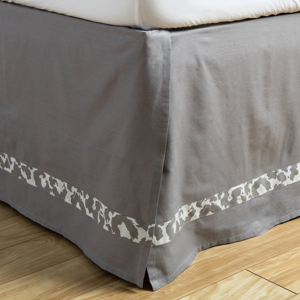 Andrew Charles Snow Leopard Collection Grey Cotton Bed Skirt