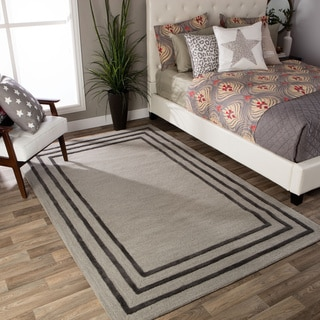 Andrew Charles Ogee Collection Border Light Grey Area Rug (8' x 10')