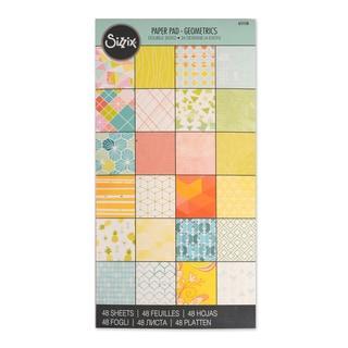 Sizzix Paper Geometrics 6 x 12 Cardstock Pad (48 Sheets)