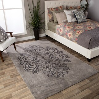 Andrew Charles Ogee Collection Grey Area Rug (5' x 8')