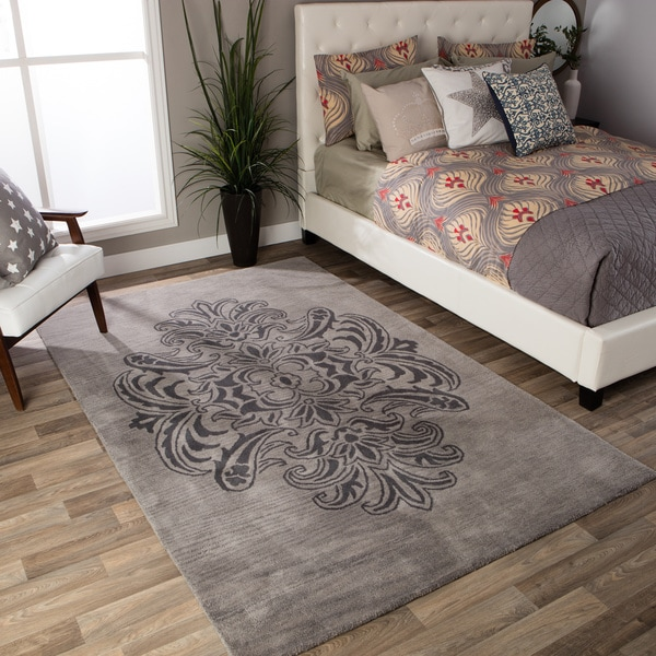 Andrew Charles Ogee Collection Grey Area Rug - 8' x 10'