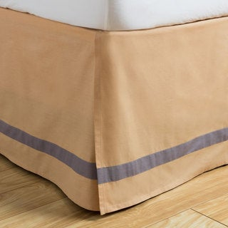 Andrew Charles Ogee Collection Gold Cotton Bed Skirt