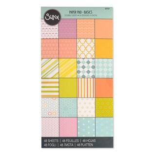 Sizzix Paper Basics 6 x 12 Cardstock Pad (48 Sheets)