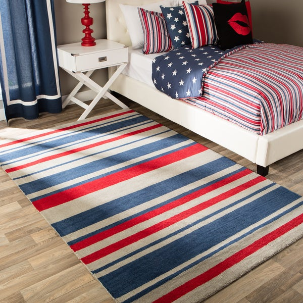 Andrew Charles All American Collection Multi-Colored Area Rug - Multi-color - 8' x 10'