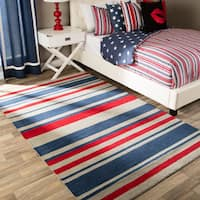 Andrew Charles All American Collection Multi-Colored Area Rug (5' x 8') - 5' x 8'