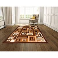 LYKE Home Contemporary Brown Area Rug - 5' x 8'