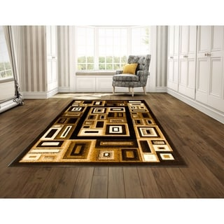 LYKE Home Contemporary Black Area Rug (8' x 10')