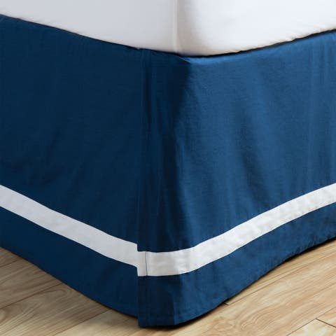 Andrew Charles Paisley Park Collection Indigo Cotton Bed Skirt