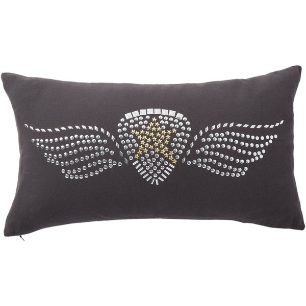 Shop Andrew Charles Snow Leopard Studded Logo Throw Pillow