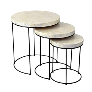 Crafted Home's Clark Capiz Side Table