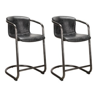 Aurelle Home Industrial Counter Stools (Set of 2)