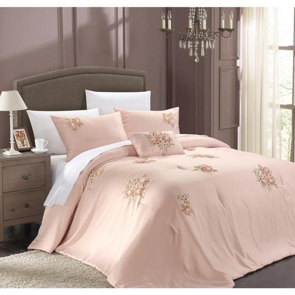 Chic Home Loretta 5-Piece Pink Comforter Set