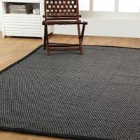 Hand-Woven Natural Fiber basket Weave Sisal Rug (8' x 10') - 8' x 10'