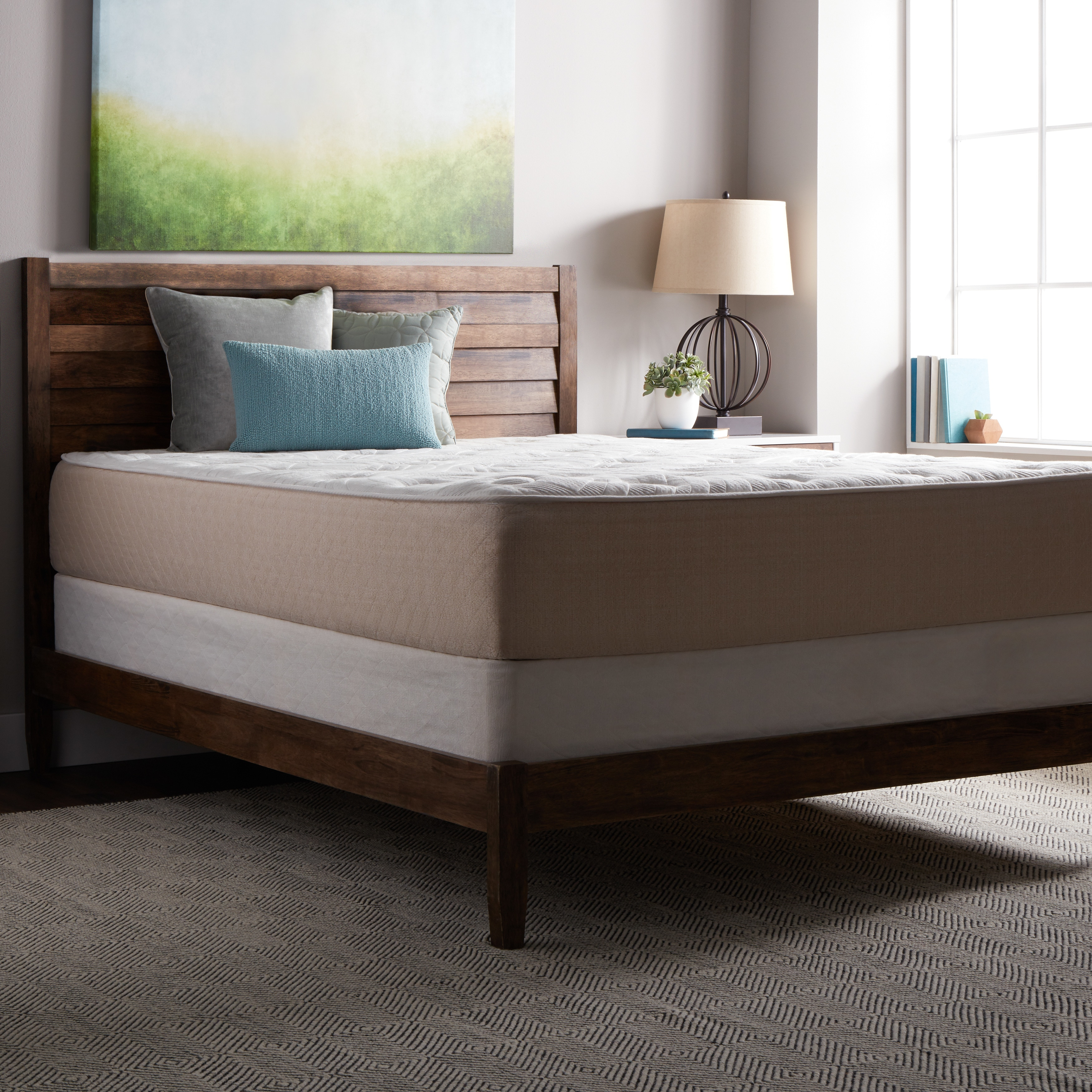 Select Luxury Best Quilted 12-inch King Size Mattress and...