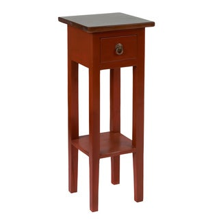 Crafted Home's Leah Square Side Table in Red