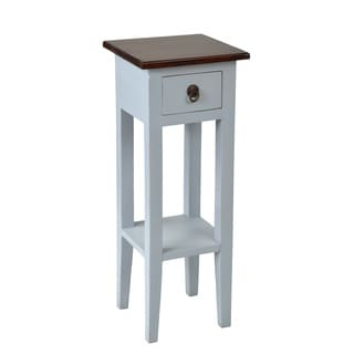 Crafted Home's Leah Square Side Table in Grey