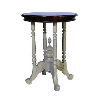 Crafted Home's Liam Round Side Table in Grey