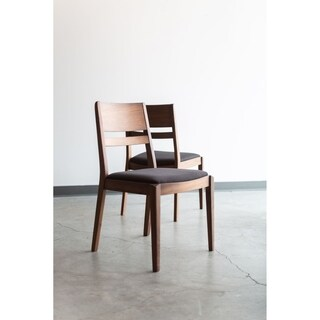 Aurelle Home Evan Solid American Walnut Dining Chair (Set of 2)