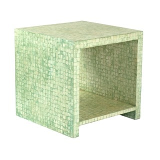 Crafted Home's Aiden Cube Side Table in Seafoam Green