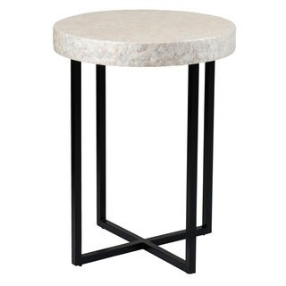 Crafted Home's Aiden Round Capiz End Table