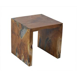 Crafted Home's Aiden Petrified Wood Side Table