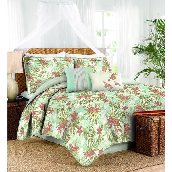 Caribbean Joe 4-Piece Hibiscus Comforter Set