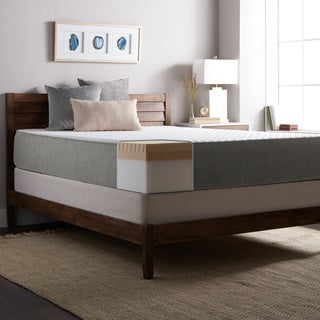 Select Luxury E.C.O. 12-inch King Size Latex and Memory Foam Mattress and Foundation Set