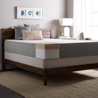 Select Luxury E.C.O. 12-inch Queen Size Latex and Memory Foam Mattress and Foundation Set - White