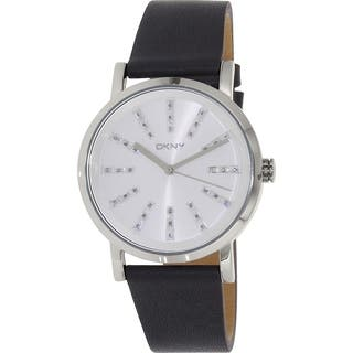 DKNY Women's Soho NY2421 Grey Leather Quartz Watch|https://ak1.ostkcdn.com/images/products/11384945/P18353046.jpg?impolicy=medium