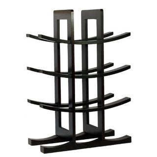 Sorbus Dark Espresso Bamboo 12-Bottle Wine Rack