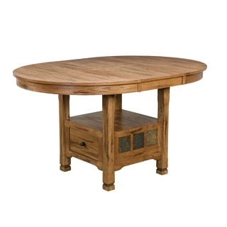 Sunny Designs Sedona Oval Family Butterfly Table with Storage
