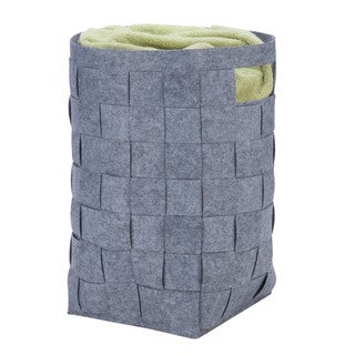 Honey-Can-Do HMP-04888 Woven Felt Hamper