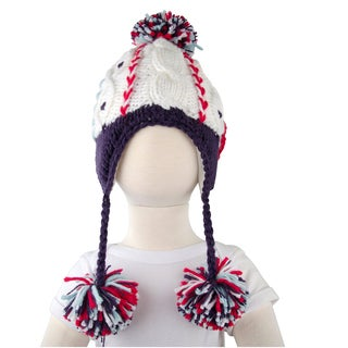 Crummy Bunny White Pom Pom Hat for Toddler and Kid