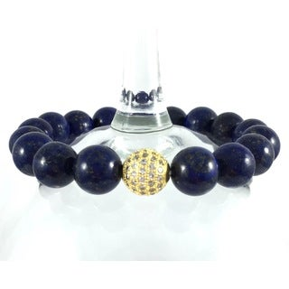 Terra Charmed Lapis Bead Bracelet with CZ Bead