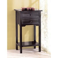 Espresso Two-Drawer Accent Table