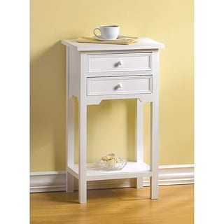 Cosmos White Accent Table