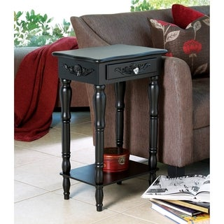 Traditional Black Wooden Side Table