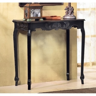 Elizabeth Antique Black Accent Table