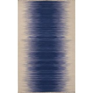 Bandeau Handmade Ombre Blue/ Cream Area Rug (9' X 12')
