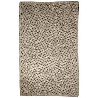 "Lamont Handmade Geometric Gray/ Cream Area Rug (9' X 12') - 8'10"" x 11'9"""