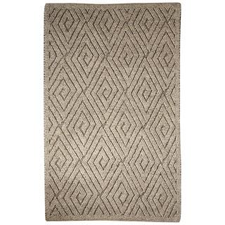 Lamont Handmade Geometric Gray/ Cream Area Rug (9' X 12')