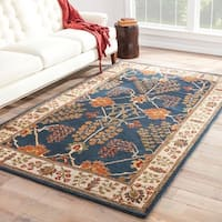 The Curated Nomad Corsica Handmade Floral Blue/ Multicolor area Rug - 9'6 x 13'6